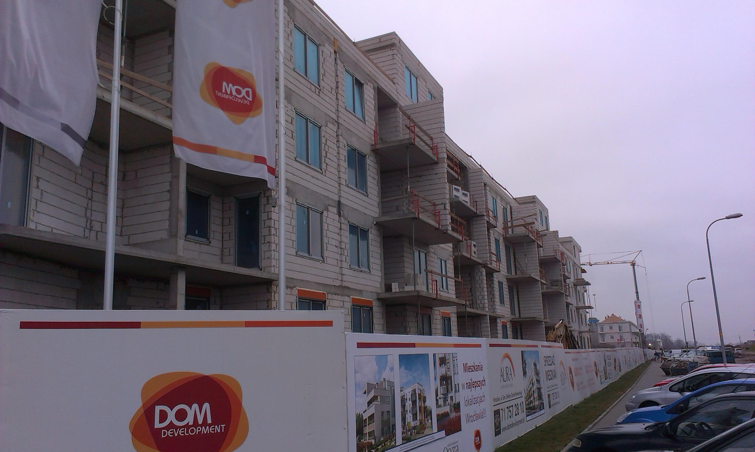 Aura inwestycja Dom Development na Wojszycach