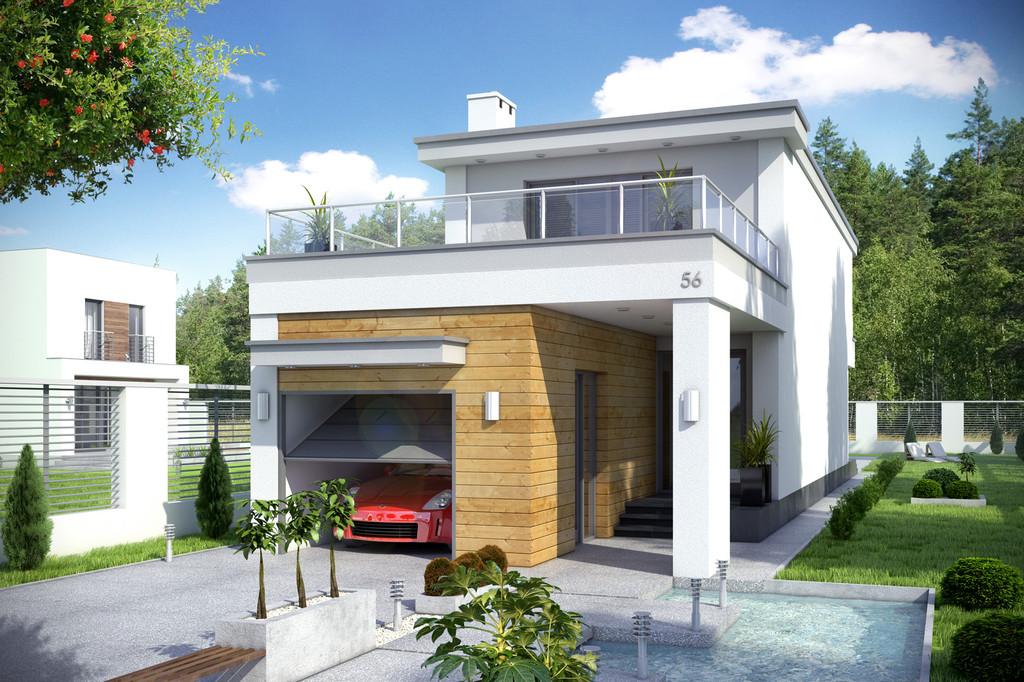 Projekt domu Long z garażem 1-st.